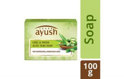 Ayush Cool & Fresh Aloe Vera Soap 100g
