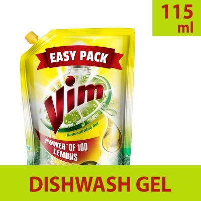 Vim Dishwash Gel Lemon Refill 115ml