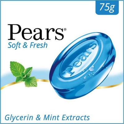 Pears Soft & Fresh-Glycerin & Mint Extracts Soap 75g