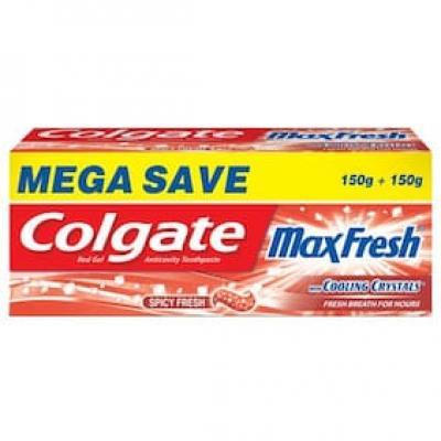 Colgate Toothpaste Maxfresh Spicy Red Gel 150 + 150 Gm