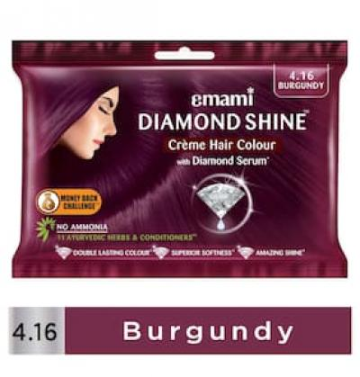 Emami Diamond Shine Cr me Hair Colour Burgundy