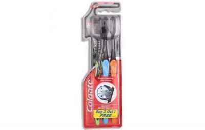 Colgate Slim Soft Charcoal Infused Toothbrush Buy 2 Get 1 Free