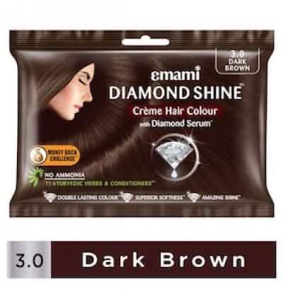 Emami Diamond Shine Cr me Hair Colour 3.0 Dark Brown