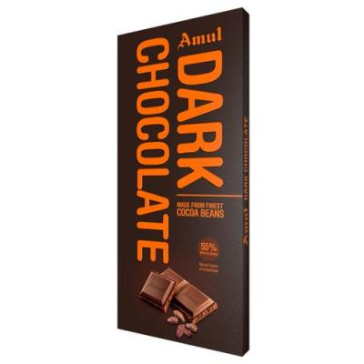 Amul Dark Chocolate- 55% Rich In Cocoa, 150 gm Carton