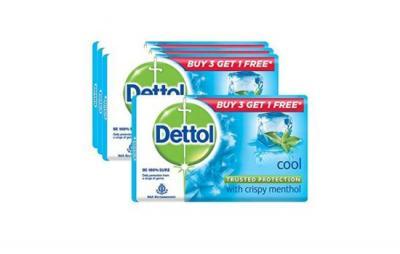 Dettol Soap Cool Menthol 4X70g