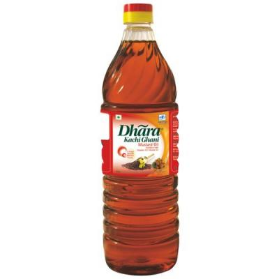 Dhara Oil - Mustard (Kachi Ghani), 1 ltr Bottle